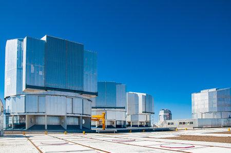 VLT telescopes during daytime with blue sky Sajtókép