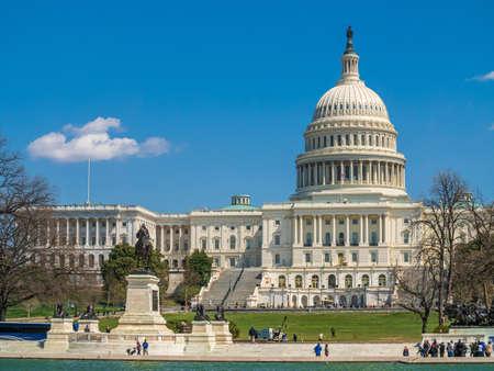 Blue sky above the Capitol Building Фото со стока