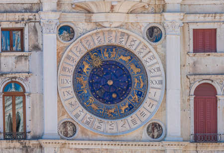 Astrological clock in Venice, Italy Stock Photo