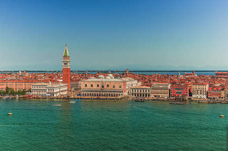Beautiful Venice Skyline with Campanile and the Grand Canal