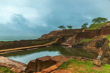 Pool at the Sigiriya Fortress in Sri Lanka