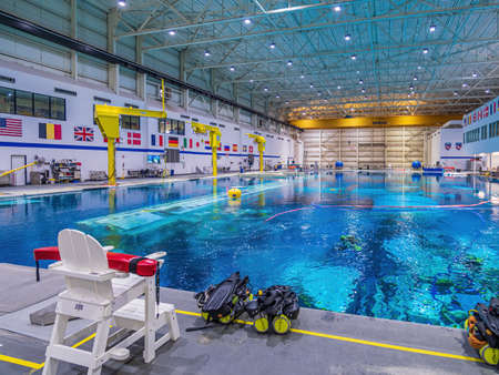 NASA's astronaut training facility, the large pool at the Johnson Space center in Houston Editoriali