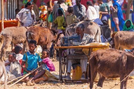 Typical market in the Amhara region near lake Tana