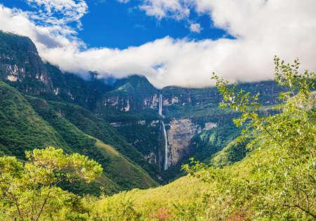 The famous Gocta waterfall - Chachapoyas in Peru