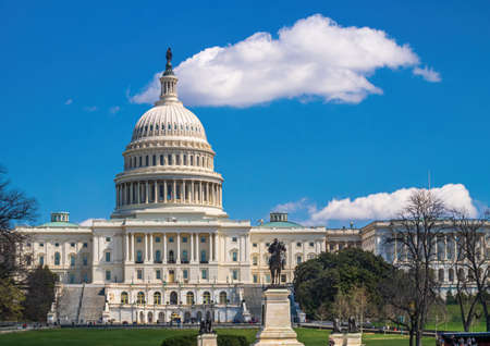 US National Capitol in Washington, DC. Symbol of American Power.