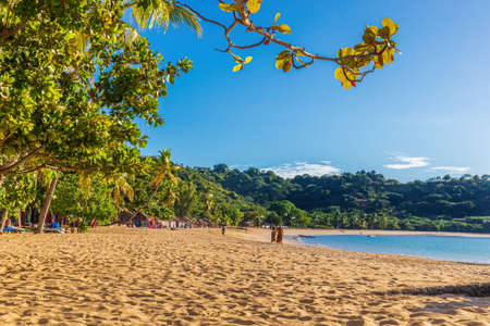 Paradise beach on Nosy Be in North Madagascar Imagens