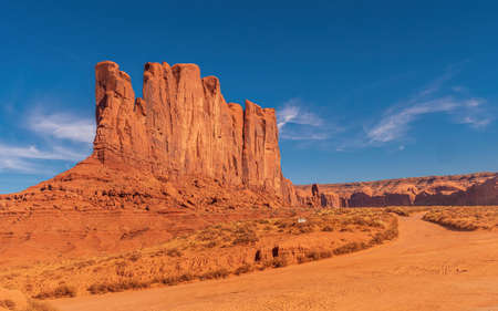 Camel Butte in the Monument Valley, USA Imagens