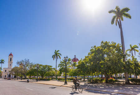 Palacio del Ayuntamiento and the Parque Jose Marti in Cienfuegos, Cuba