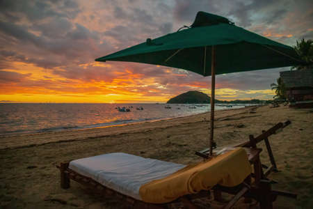 Sunset on the beautiful island of Nosy Be, Madagascar