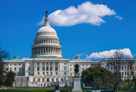 Outdoor view of US Capitol in Washington DC