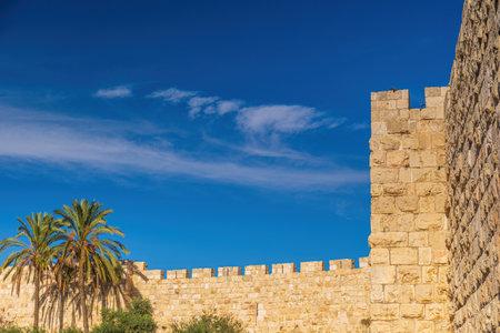 The ancient walls of Jerusalem, Israel