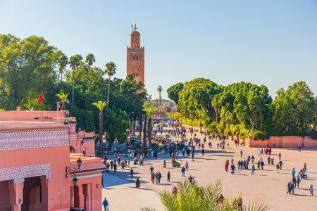 Marrakechs central place Djemaa El Fna