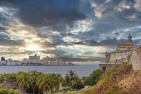 Dramatic sky over Old Havana, Cuba Imagens