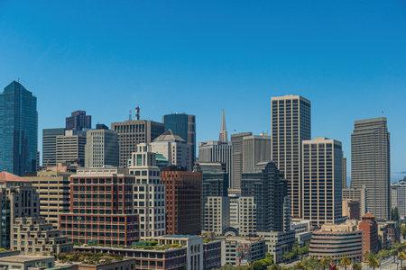 Skyscrapers, Los Angeles skyline. Editorial