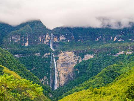 Catarata de Gocta, one of the highest waterfalls in the world, Peru