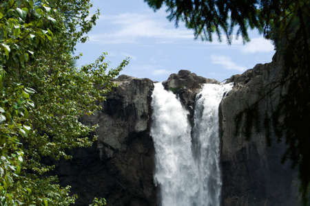 Water going over the falls at a national forest. Stok Fotoğraf