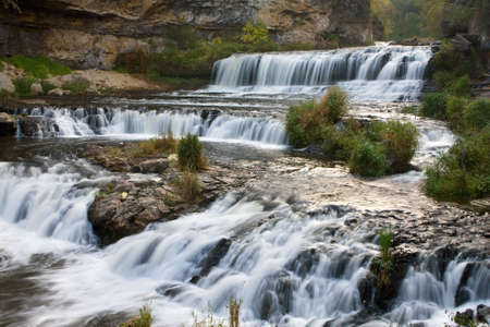 Beautiful Willow River State Park Waterfall in Wisconsin.