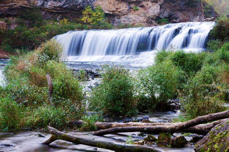 state of wisconsin: Beautiful Willow River State Park Waterfall in Wisconsin.