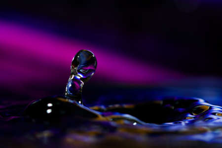 surface tension: colorful abstract water drop creations.