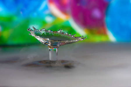 colorful abstract water drop creations.