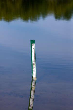 Water level measurement gauge. Imagens