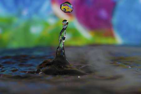 surface tension: Colorful Water Drop Sculptures creating a unique look.