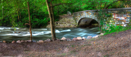 Beautiful River Bridge in High Dynamic Range.