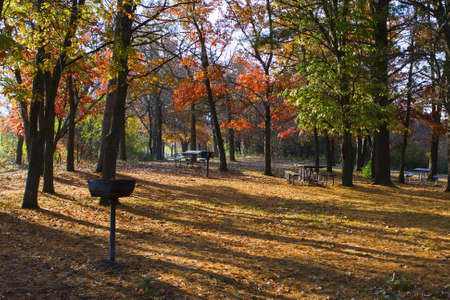 Camp ground set in the autumn colors  photo