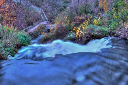 high dynamic range: Colorful scenic Landscape in High Dynamic Range Stock Photo