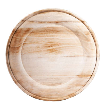 Empty wooden plate natural color, not painted, standing vertically