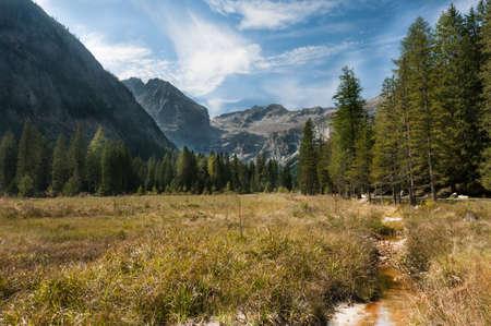 Mountain View Adamello-Presanella group Alps, Genova valley Stock Photo