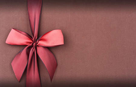 Cover gift box with red bow Stock Photo