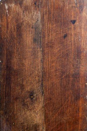 Oppervlak van de oude houten planken van eiken keuken Stockfoto