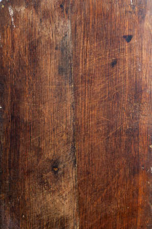 Surface of the old wooden planks of oak kitchen