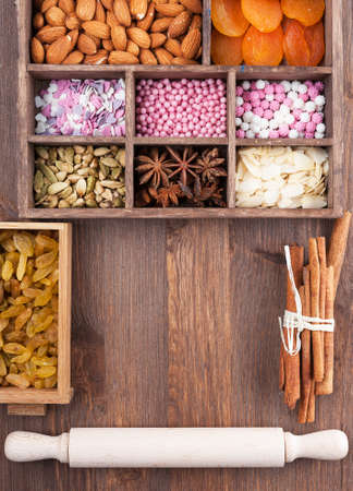 aniseed: The ingredients for a festive sweet home-baked Stock Photo