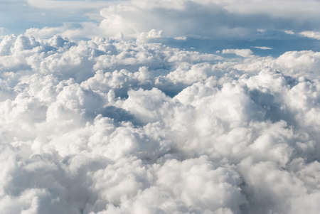 Accumulation of cumulus clouds view from above