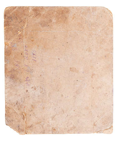 dense mats: Back side of antique photo isolated on white