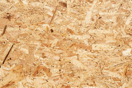 Close up of a recycled compressed wood chippings board  Stock Photo