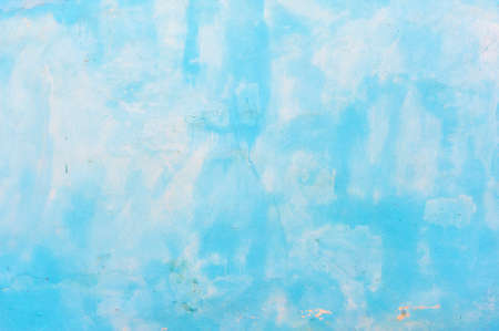 Blue cement painted wall abstract background