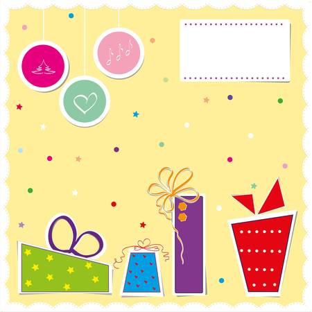 Christmas card illustration in scrapbook style Vector