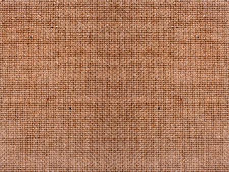 Bast dark natural fabric texture, closeup Stock Photo