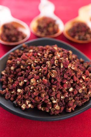 Sichuan red pepper, closeup Stock Photo
