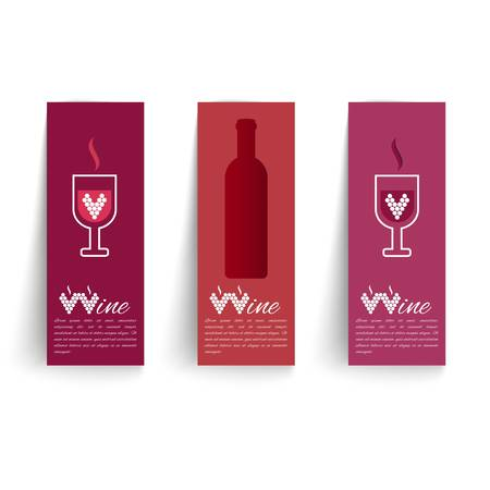 wines: Banners set on wines vector