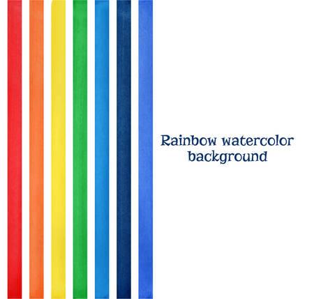 Rainbow watercolor background vector