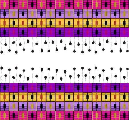 Geometric seamless ethnic ornament vector Illustration