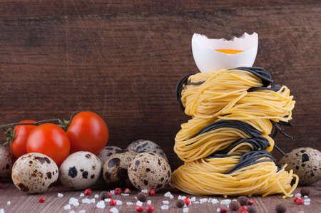 angel hair: Fideos caseros cabello de �ngel italiana con huevos