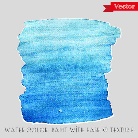 Watercolor background with fabric texture vector