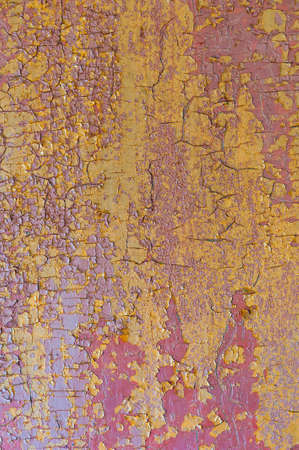 Background of peeling paint on wooden texture