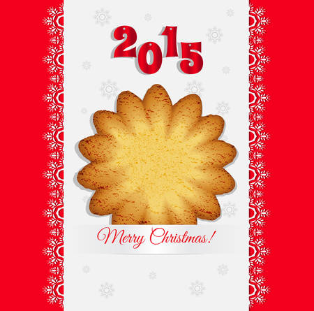 christmas cookies: Christmas cookies on a light background vector Illustration