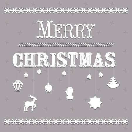 Typografische tekst Kerst en Design vector illustratie